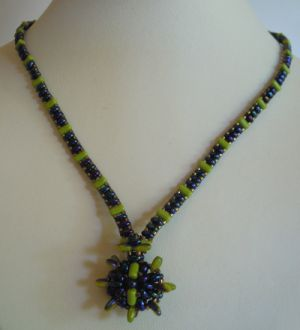 "Pendant tutorial ""Small Olivine Indiana"""
