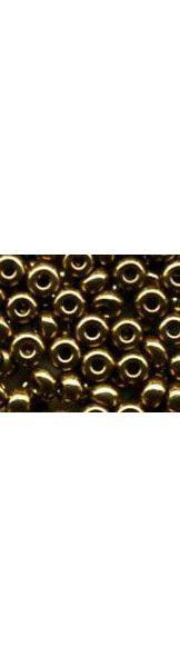 2.3mm  bright bronze seed beads