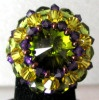 Shetland olivine bead ring pattern