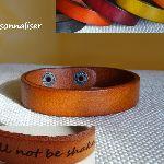 Bracelet cuir Mixte à graver cadeau personnalisé