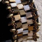 Bracelet Tila Frou-frou doré en kit