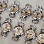 Lot de 10 cadrans argenté pour création de montre