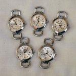 Lot de 5 cadrans argenté pour création de montre