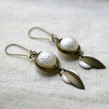 Boucles d'oreilles Perles blanches