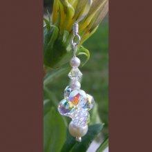 Boucles d'oreilles pendentif de perles Cristalia