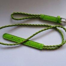 Bracelet montre tressé Vert anis