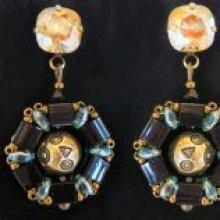 Boucles d'oreilles en kit Cabochons Somerset Valentinit