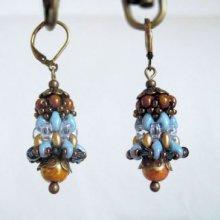 Kit pour Boucles d'oreilles Cloches Bleu