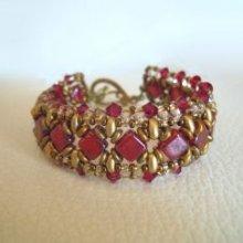 Bracelet Argyle Rubis en kit