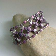 Bracelet Chéops Violet argenté en kit