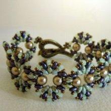 Bracelet Coquet Violet/vert en kit