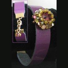 Bracelet Cuir Arlequin  en kit