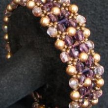 Kit bracelet Latitude Prune or