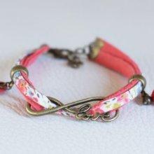 Kit bracelet Love en Liberty corail