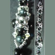 Kit bracelet Comores Noir&argent
