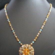 Collier pendentif Latitude Brandy Camaïeu en kit