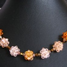 Kit collier en boules de perles dorées