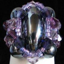 Kit bague Molene Hématite Violet