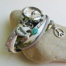 Montre en kit bracelet double Liberty Peace