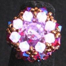 Kit bague Morgan carrée violet opale