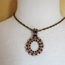 Kit pendentif anneau Mocca & doré