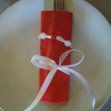 Kit pour rond de serviettes de Noël avec ruban