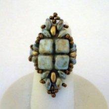 Kit bague Silkade Vert bronze