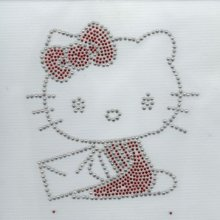 MOTIF STRASS CHAT KAWAII