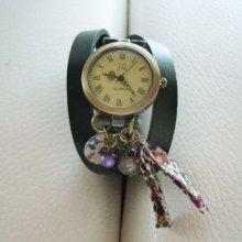 Montre Liberty bracelet cuir 3 tours