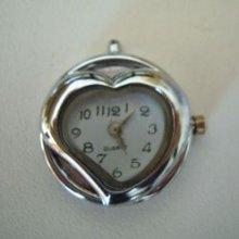 Pendentif montre cadran coeur
