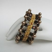 Tutoriel bracelet Gizeh en perles Khéops bronze
