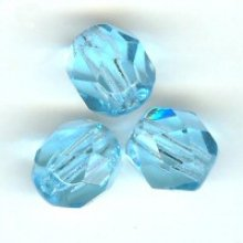 Facette 6mm aquamarine x 10