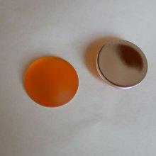 Cabochon Luna Soft Topaz diamètre 24mm