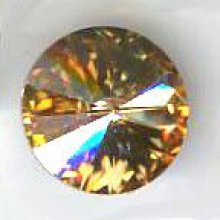 Cabochon swarovski rond 14mm Crystal Golden Shadow