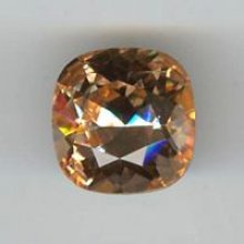 Cabochon swarovski carré 12mm l. peach