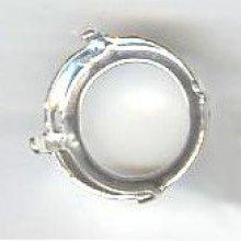 Sertissure ronde Rivoli  14mm argenté