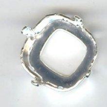 Sertissure carré 12mm argenté