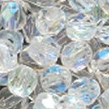 Facette 4mm Crystal ab x 20