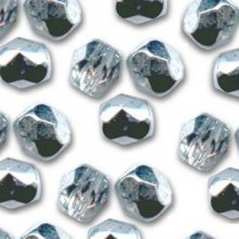 Facette 4mm Crystal argenté x 20