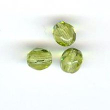 Facette 4 mm  olivine x 20