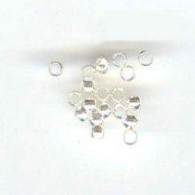 Perles à écraser argentées x20