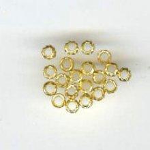 Perles à écraser dorées x20