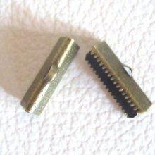Embouts à serrer bronze 20 mm x 2