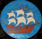 Horloge décor voilier