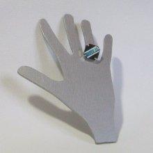 Bague Fantaisie Réglable pour Femme en Ardoise Emaillée Bleu, Création Artisanale