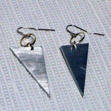 boucles d'oreille triangle en aluminium oreilles percées