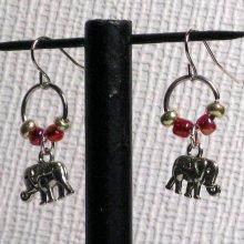 boucles d'oreille éléphant