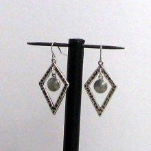 boucles d'oreille losange argent tibétain