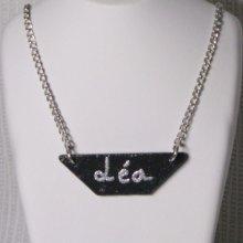 pendentif personnalisable, ardoise et prénom, cadeau original pour noël ou anniversaire fait main