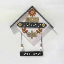 Déco Murale Maison avec Chouette Beige, Création Unique et Originale